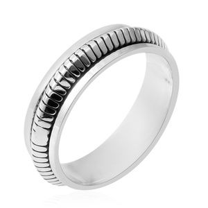 Jewelry - Black Oxidized Sterling Silver Spinner Ring